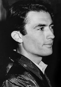 Gregory Peck on the set of Spellbound,1945.