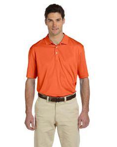 Harriton Men's Double Mesh Sport Shirt M353 TEAM ORANGE