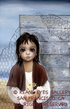 """""""By The Fence"""" ~ Margaret Keane"""