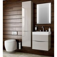 #Contemporary #bathroom ideas. Bauhaus Glide II 70 Wall Hung Vanity Unit with…