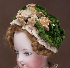 Antique French original wire Hat Bonnet for Huret Gaultier Rohmer Fashion doll
