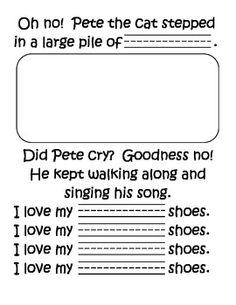 Pete the Cat Class Book-- modify just a bit for pre-k! Kindergarten Language Arts, Kindergarten Literacy, Classroom Activities, Book Activities, Sequencing Activities, Classroom Ideas, Teaching Reading, Free Reading, Learning