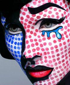 Pop art face makeup for halloween