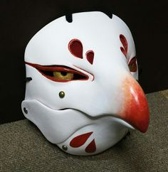 Kitsune Mask, Oni Mask, Character Concept, Character Art, Concept Art, Japanese Demon Mask, Bird Masks, Cosplay, Cool Masks