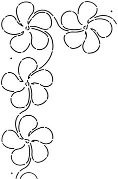 Laura Estes Plumeria Blossom Border 4in