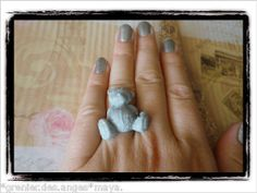☀BAGUE TAILLE REGLABLE OURS ME TO YOU GRIS GLITTER FIMO Maya, Clothing, Accessories, Fimo, Bears, Human Height, Outfits, Outfit Posts, Kleding