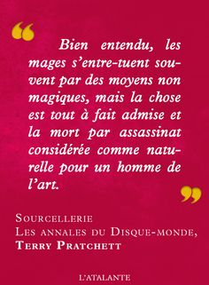 Sourcellerie, Les Annales du Disque-Monde de Terry Pratchett #book #quote⎢Citations