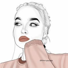 Outlines Outline Tumblr Girl Draw Drawing Art Black And White