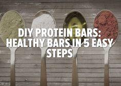 credit: Bodybuilding.com [http://www.bodybuilding.com/fun/diy-protein-bars-healthy-bars-in-5-easy-steps.html]