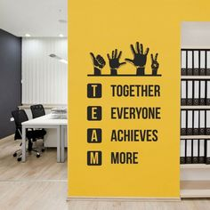 Office Wall Design, Corporate Office Design, Office Branding, Modern Office Design, Office Interior Design, Office Interiors, Corporate Offices, Office Wall Graphics, Office Wall Decals