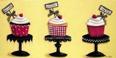 Cupcake Print Cherry Cupcake Dream by catherineholman on Etsy, $16.95
