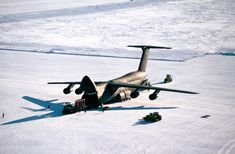USAF Lockheed C-5 Galaxy strategic transport during Exercise Deep Freeze, Antarctica, 1990.