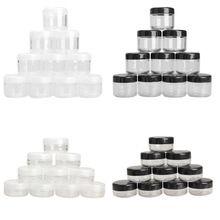 10 Unids/pack Cosmetic Jar Empty Pot Eyeshadow Makeup Face Cream Container Mini Caja de 10/20g(China (Mainland))