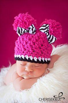Adorable baby crochet hat!