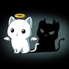 Purr Evil (Black) shirt TeeTurtle