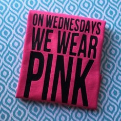 Mean Girls Inspired  On Wednesdays We Wear by RainybugsAccessories