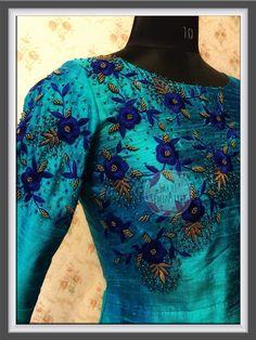 Pattu Saree Blouse Designs, Salwar Designs, Kurti Patterns, Blouse Patterns, Neckline Designs, Work Blouse, Embroidery Dress, Indian Designer Wear, Dresses For Work