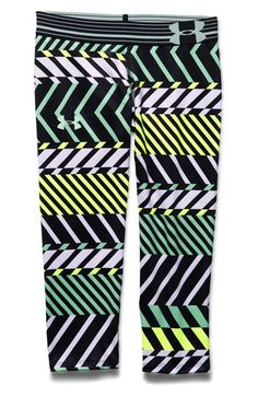 Under Armour 'Alpha' Print HeatGear® Capris (Big Girls)