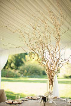 branch centerpiece love