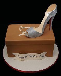 3d high heel Christian Louboutin gum paste keepsake shoe