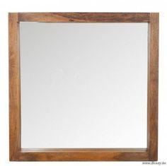 J-Line Exotische spiegel els hout naturel 92x92