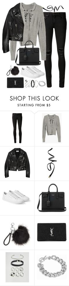 """""""Untitled#4596"""" by fashionnfacts ❤ liked on Polyvore featuring rag & bone/JEAN, Yves Saint Laurent, H&M, Dolce&Gabbana, ASOS and NLY Accessories"""