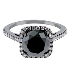 OBSESSED with black diamond rings