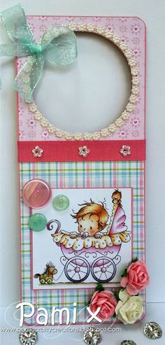 Beautiful door hanger using Hobby House gorgeous products