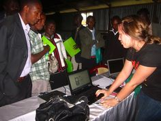 Helping trainees in Bomet sign up for jobs on DUMA at www.dumaworks.com