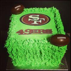 Football theme 49ners cake!