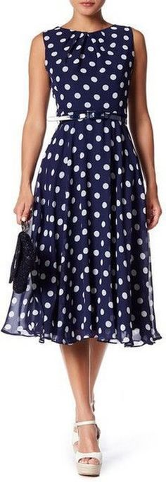 Eliza J Sleeveless Belted Midi Dress 2019 - and white summer dress casual blue casual dress summer blue summer dress casual casual blue dress - blue dress casual - Summer Blue Dresses 2019 Trendy Dresses, Cute Dresses, Casual Dresses, Fashion Dresses, Midi Dresses, Eliza J Dresses, Summer Work Dresses, Dress Summer, Summer Outfits
