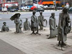Anonymous pedestrian statue, Wroclaw, Poland