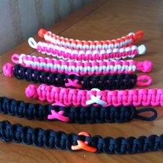 PICTURE, CONCEPT, Ribbon Support Paracord bracelets Paracord Braids, Paracord Knots, Paracord Bracelets, Crafts To Make, Arts And Crafts, Diy Crafts, Awareness Ribbons, Cancer Awareness, Paracord Accessories