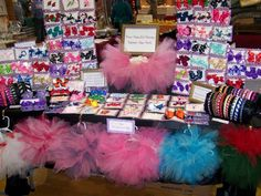 Craft Show Booth Ideas | Craft show pics... - Hip Girl Boutique Free Hair Bow Instructions ...