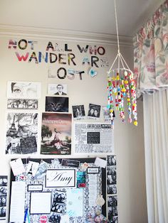 diy room decor: Quotes and black and white pictures
