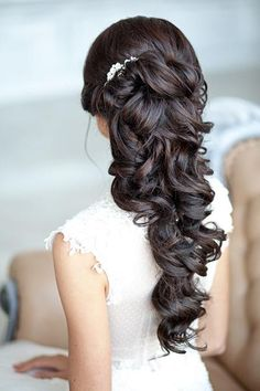 fryzura ślubna ciemne włosy