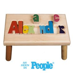 Maple Alexander Puzzle Step Stool I feel like I could make this