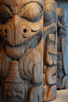 Haida totem pole from Queen Charlotte Islands.  I have to say, though, that I'm sad they have been displaced.
