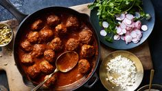 This recipe for albóndigas in red chile sauce proves once and for all that Italians aren't the only players in the meatball game.