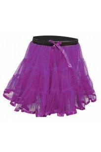 Crazy Chick Girls 2 Layers Purple TuTu Skirt 18 Inches Long