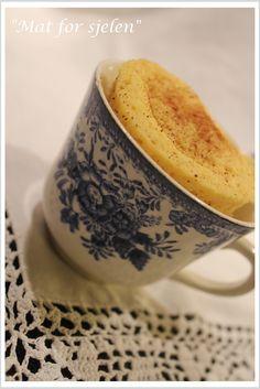 Mat for sjelen.: Ekte Cup Cake - Kake i en kopp! Healthy Sweet Treats, Lchf, Sugar Cookies, Sugar Free, Muffin, Paleo, Gluten Free, Tableware, Ethnic Recipes