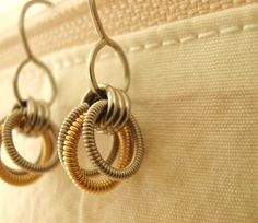 Pretty guitar string earrings