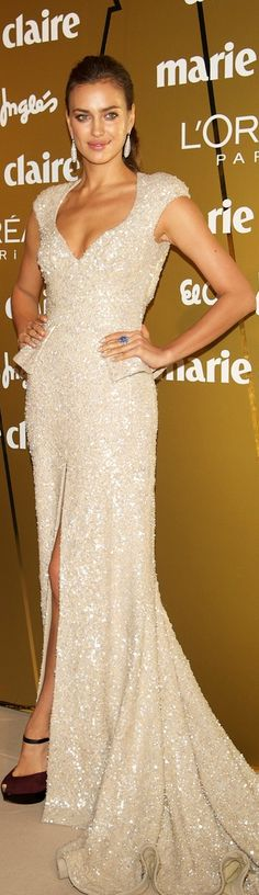 Irina Shayk in Elie Saab ~Latest Luxurious Women's Fashion - Haute Couture - dresses, jackets. bags, jewellery, shoes etc ~ DK