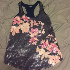 Express sequin tank top Barely worn. Good condition. Express Tops Tank Tops