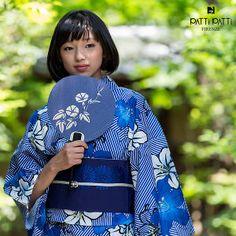 PATTi PATTi 浴衣セット「青色 百合」