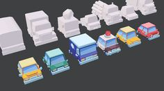 Low poly vehicles…