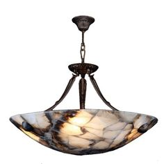 Shop for Contemporary 4 Light Flemish Brass Finish Natural Quartz Bowl Pendant. Get free shipping at Overstock.com - Your Online Home Decor Outlet Store! Get 5% in rewards with Club O!