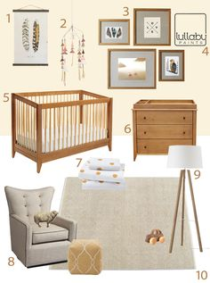 Great crib. My Modern Nursery #73: Naturally Neutral @Megan Elizabeth Paints