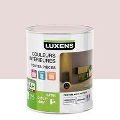 Peinture multisupports Couleurs intérieures satin LUXENS, rose blush n°6, 0.5 L   Leroy Merlin