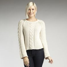 Organic cotton Cable Pullover in cloud. Fair trade, ethical fashion.